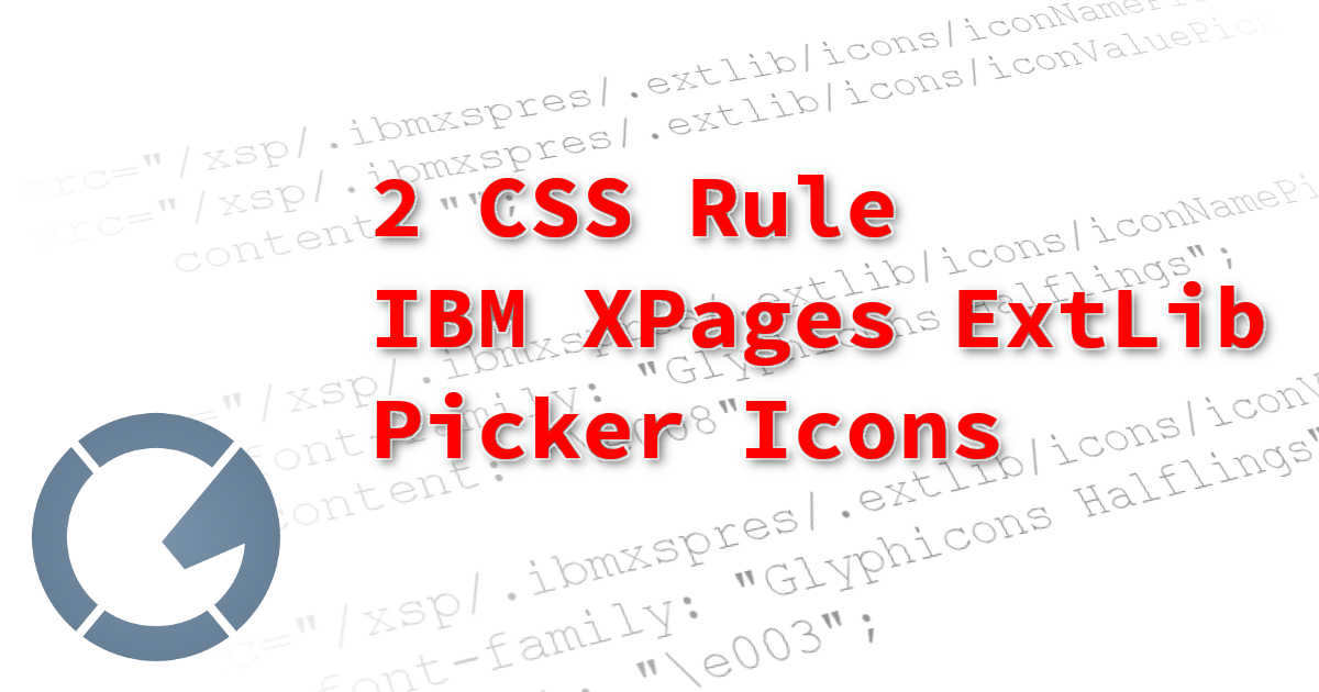How to use 2 CSS Rules to replace the IBM Domino XPages Extension Library Picker Icons